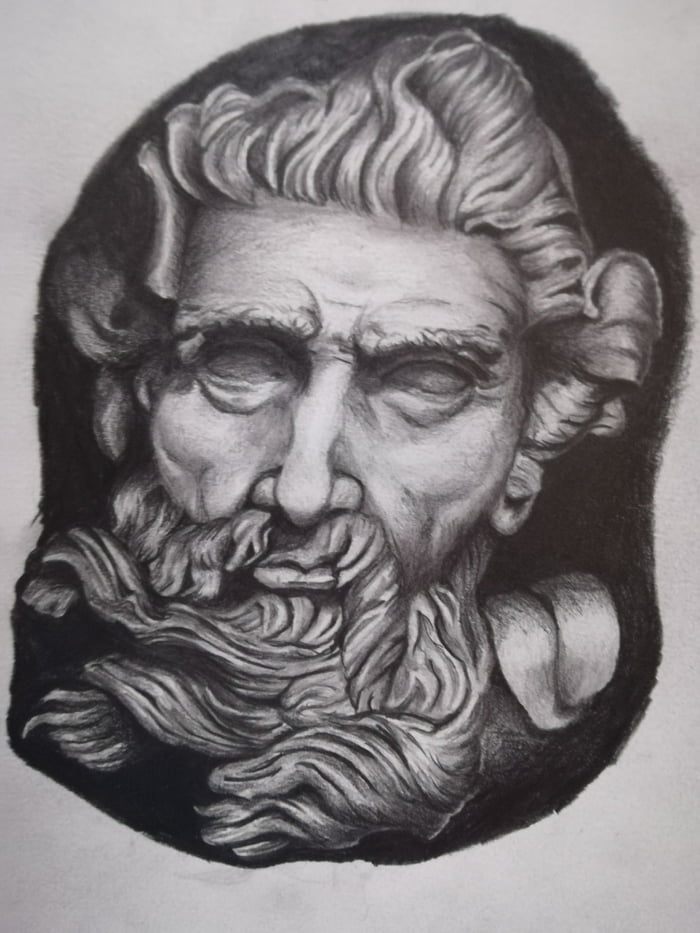 My Poseidon Sketch For My Greek Gods Tattoo Sleeve 9gag