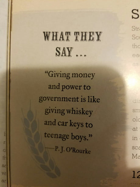 "Taken from ""the ultimate book of whiskey"""