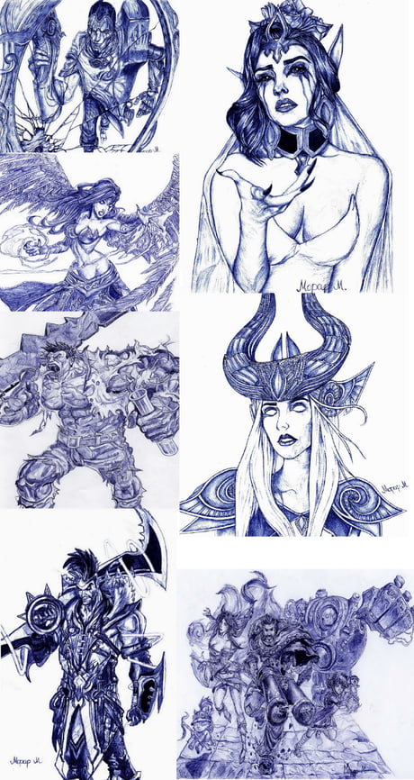 I like to draw characters from League of legends with ball pens.What do you guys think?
