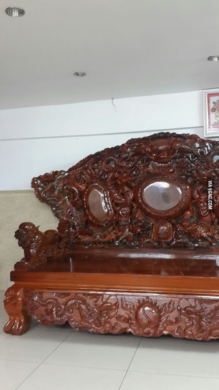 Asians Be Like Wood Carving Dragon Sofa Super Comfy 9gag