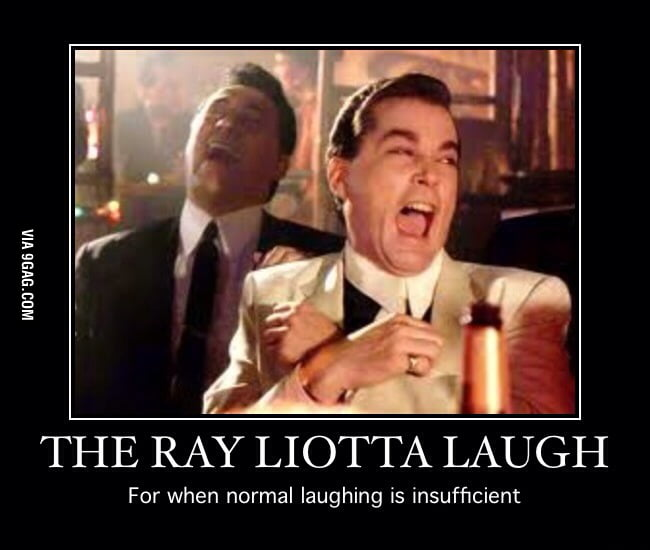 Image result for ray liotta laughing meme