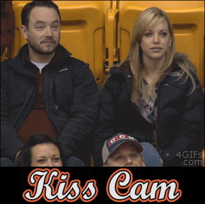 THIS was the best kisscam EVER!