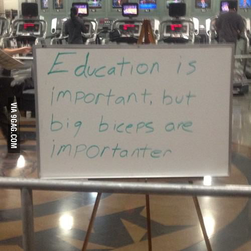 Education is important but...