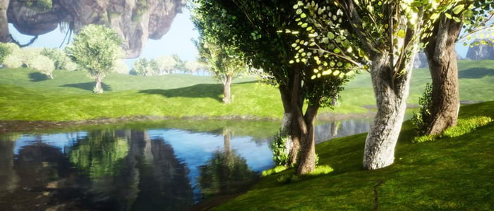 Made a beautiful water texture in Unreal Engine 4 for a game