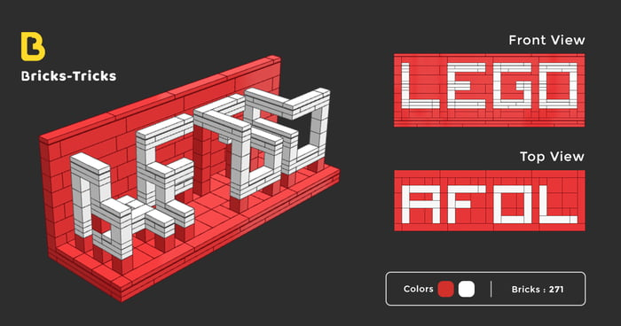 Two Faced Text Perspective Using Lego Bricks The Front View Shows You And Top Afol Hope Like Idea Visit Our Website To