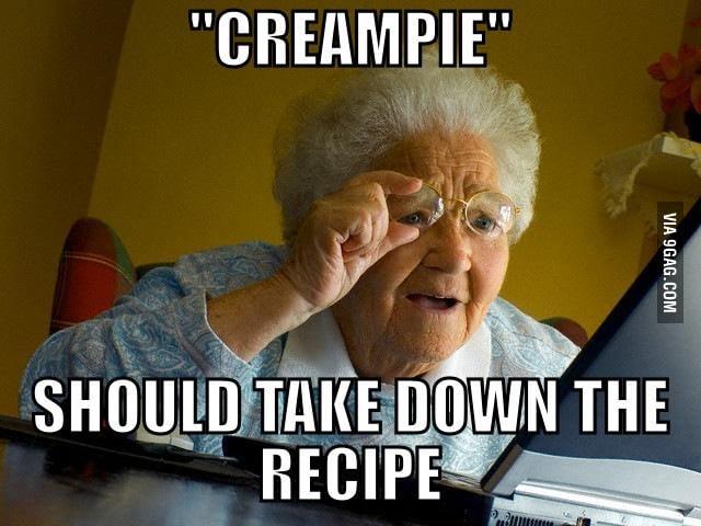 Creampie a granny