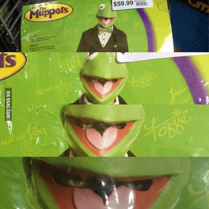 Creepy Kermit The Frog Halloween Costume 9gag