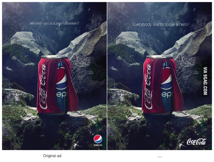 Coke strikes back. Smart thinking!