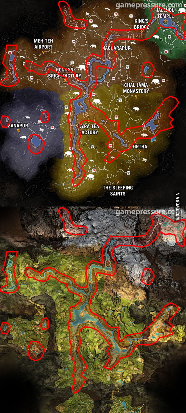 Far Cry 4 Map Vs Far Cry Primal Map 9gag