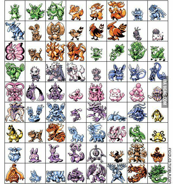gen 6 pokemon in gameboy graphics 9gag
