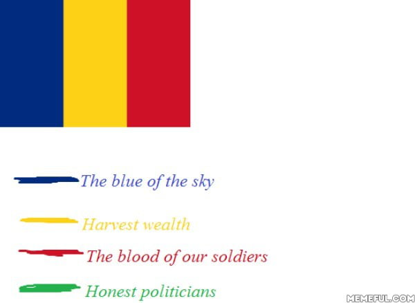 The meaning of the romanian flag  9GAG