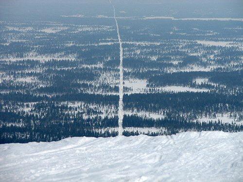 Norway-Sweden border, also called «No Man's Land» - 9GAG