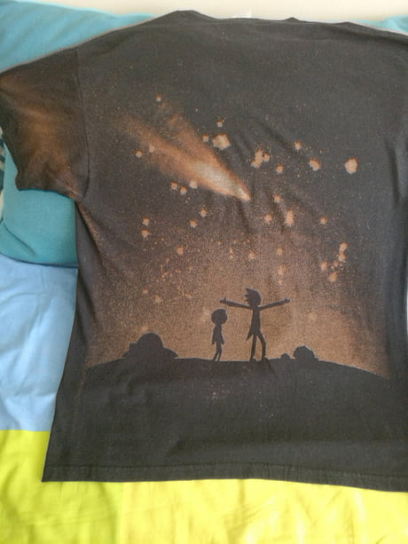 Made a Rick and Morty T-shirt With Bleach