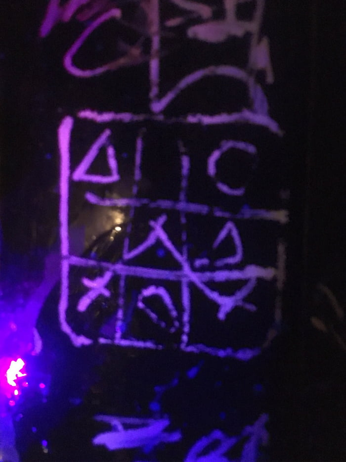 So it looks like THREE people in a local pub played tic tac toe. One ...