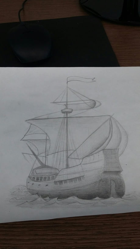 I like to draw galleons and war ships at work. What do you think?