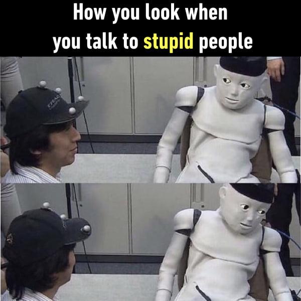 I don't talk to stupid people