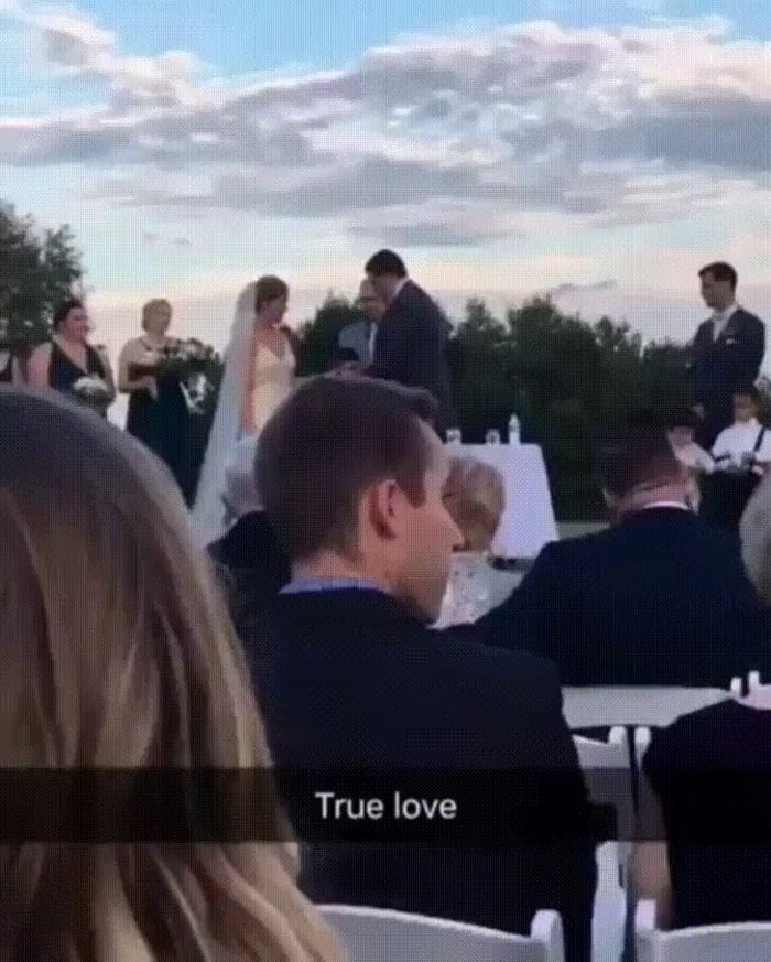 There are two types of people at weddings