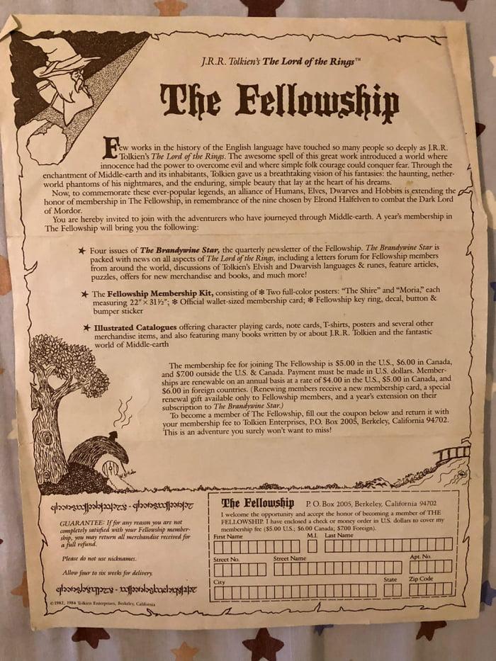 The Fellowship fan club sig-up sheet - 9GAG
