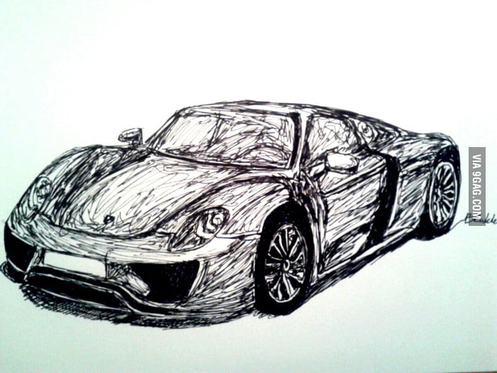 My one-line drawing of Porsche 918 Spyder, what do you think? - 9 on porsche boxster drawings, porsche cayenne drawings, hennessey venom gt drawings, porsche macan drawings, sports car drawings, lamborghini drawings, porsche concept drawings, porsche panamera drawings, chevrolet camaro drawings, porsche 962 drawings, nissan gt-r drawings, fiat 500 drawings, bugatti veyron drawings, porsche turbo drawings, porsche carrera drawings, porsche 550 spyder drawings, still life pencil drawings, porsche carrera gt, bmw i8 spyder drawings,
