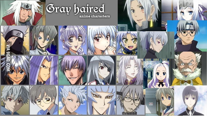 Anime Characters Grey Hair : This is to the person that posted all multi colour