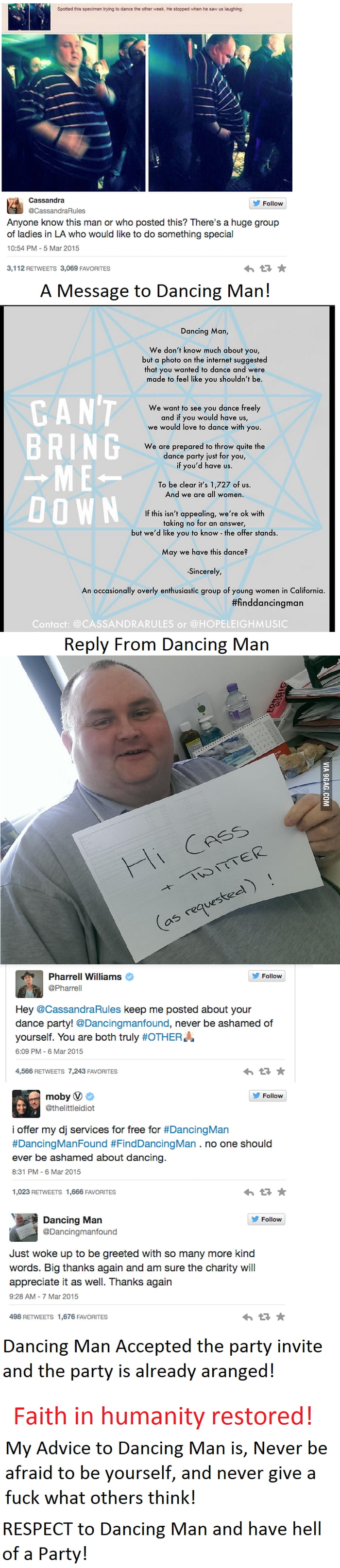 Dancing Man! It broke my heart when I saw this post first time!  But no I feel like justice has been Served!