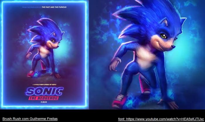Sonic Movie Concept Art 9gag