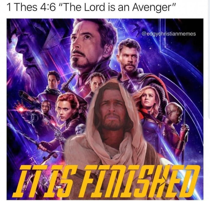 Jesus, we're taking the party to you    *Avengers theme song