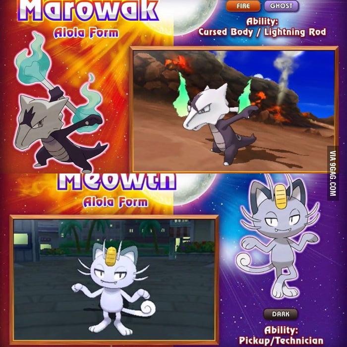 Pokemon Sun/Moon Alola forms; Marowak & Meowth! Excited to see ...