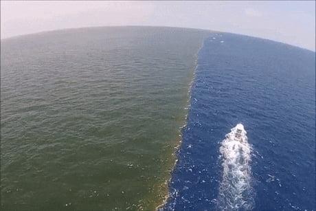 Gulf of Alaska, where two oceans meet but never mix. - 9GAG