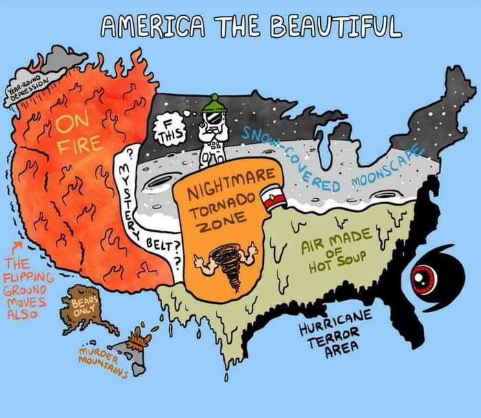 Current map of the US of A  9GAG