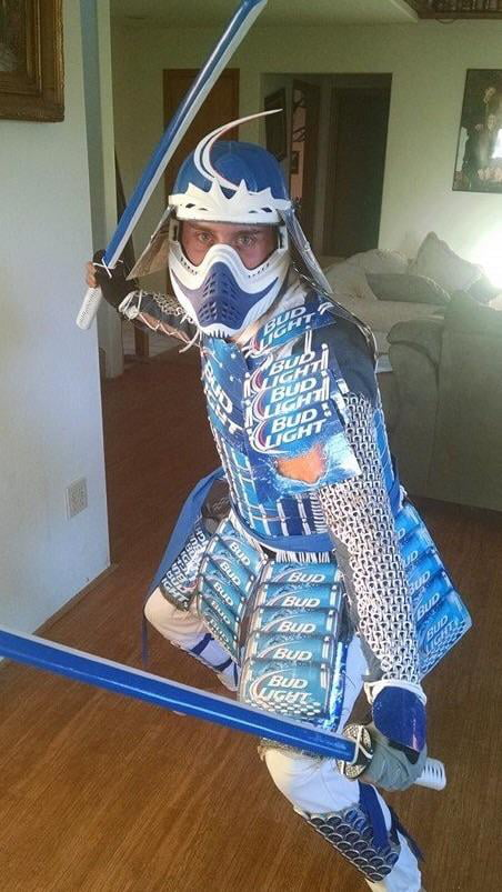 My Best Halloween Costume Yet. The Bud Light Samurai!
