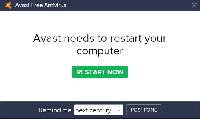 avast postpone next century