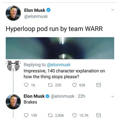 Elon Musk describes how the hyperloop stops
