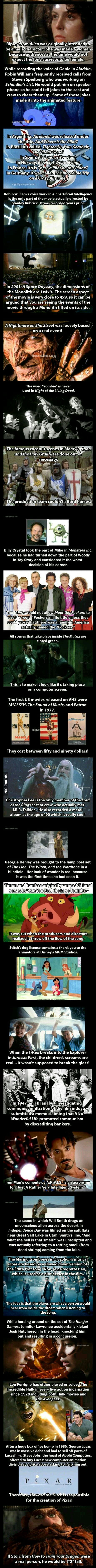 Interesting facts about famous movies