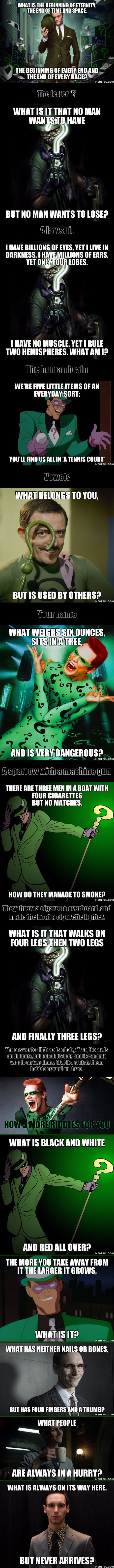 13 Riddles From The Riddler Can You Solve Them 9gag