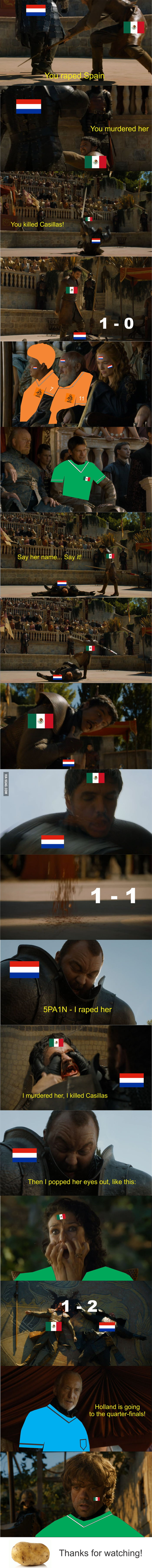 What Nederland - Mexico felt like...