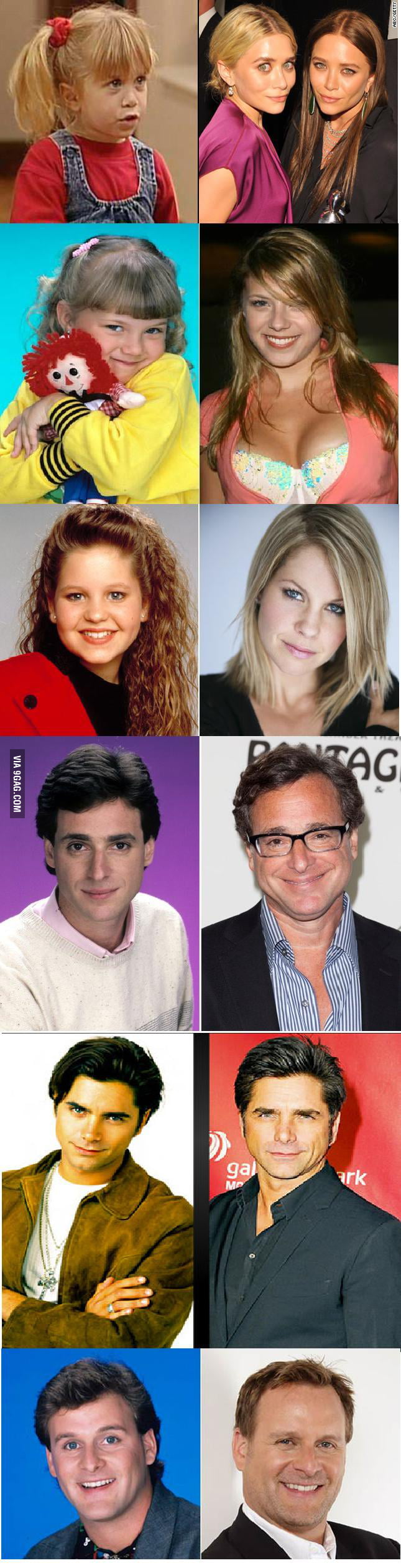 Full house - then and now - 9GAG Cast Of Full House Then And Now Pictures
