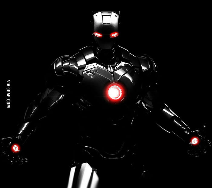 nothing is more badass than a black iron man suit 9gag. Black Bedroom Furniture Sets. Home Design Ideas
