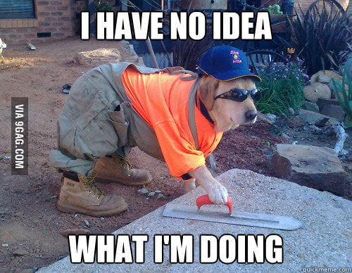 Being a concreter is not easy work for a Labrador. - 9GAG