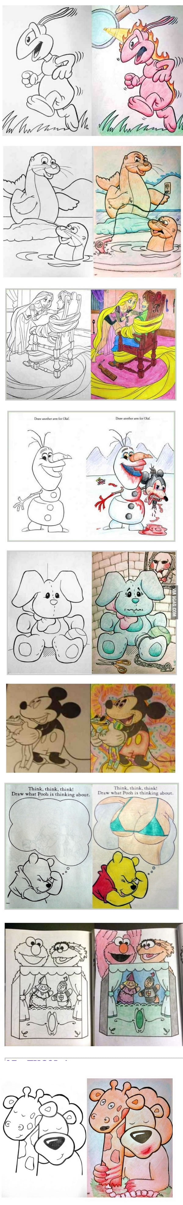 Hilarious Coloring Book Drawings