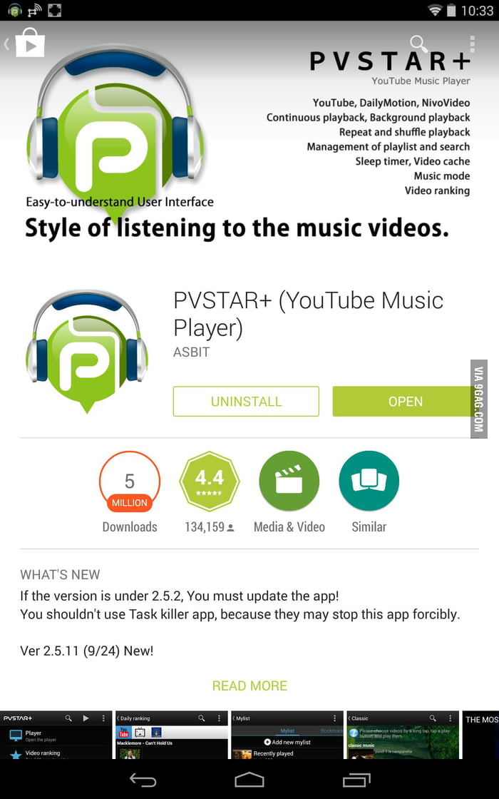 The android app that plays YouTube in the background - 9GAG