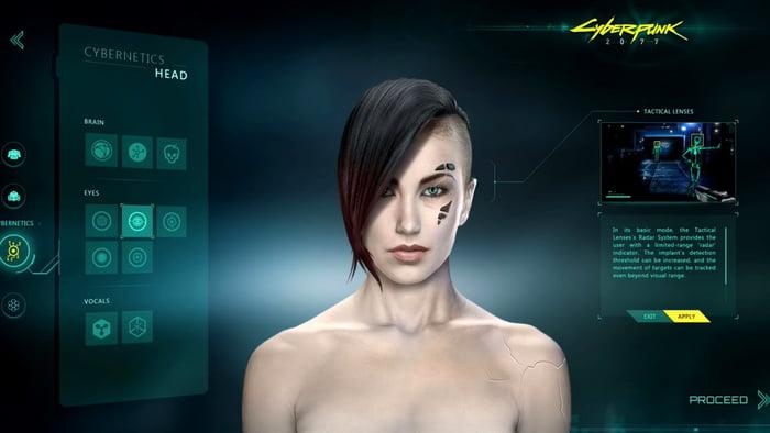 Cyberpunk 2077 Character Customization - 9GAG