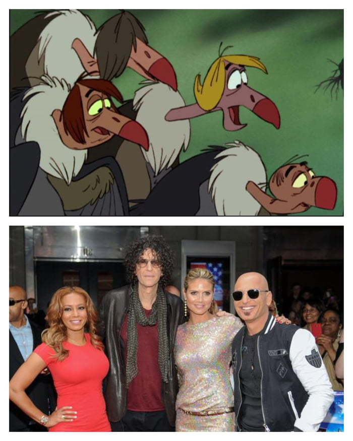 the vultures from the jungle book and the america s got talent