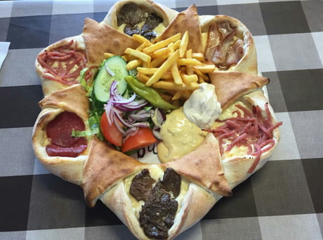 "So I saw this ""Swedish Kebabpizza"" post. We also have ""Vulkanpizza"" ."