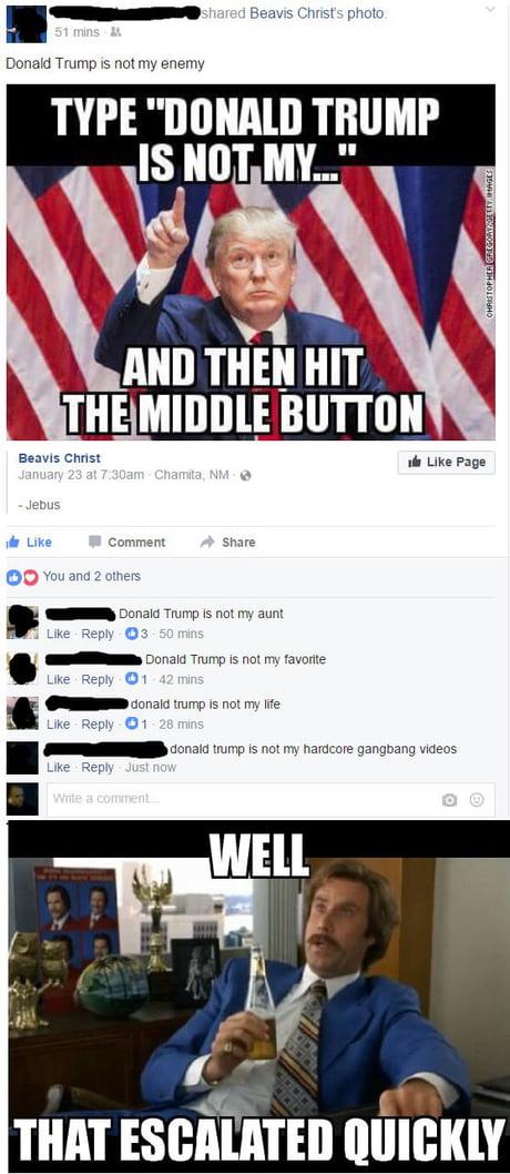 Donald trump is not my midget retarded amputee necrophilia ...