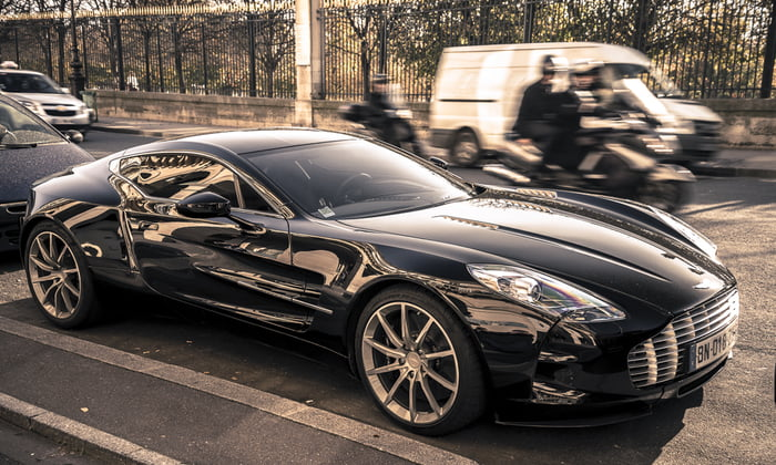 With only 77 ever made, one of the rarest supercars in the world, the Aston Martin One-77