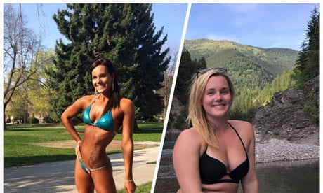 Bodybuilder's before and after photo is NOT what you'd expect