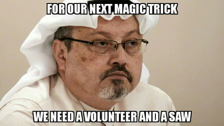 "Image result for jamal khashoggi ""magic trick"""