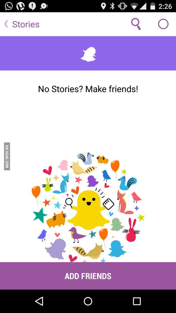 Snapchat Knows How To Make Someone Feel Bad 9gag