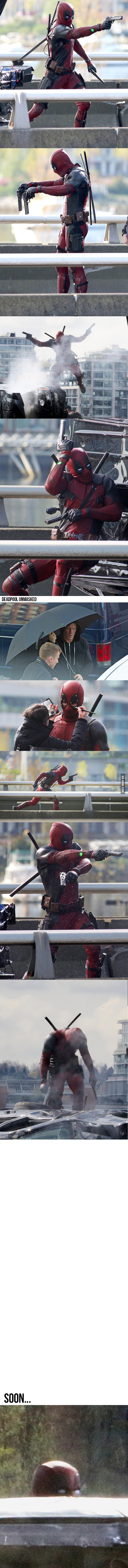 """Close-Up Photos Of """"Deadpool"""" On The Set Are Leaked, Excitement Intensified!"""